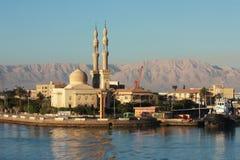 Suez-Kanal Morgens stockfoto