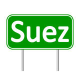 Suez road sign. Royalty Free Stock Photography
