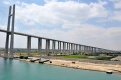 Suezkanal-Brücke stockbild