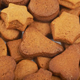 Suface coated with hand-made cookies Royalty Free Stock Image