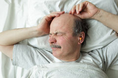 Suffer from insomnia Stock Image