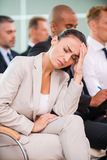 Suffering from awful headache. Stock Images