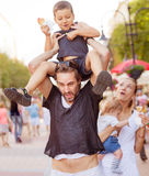 Suffering devoted parents kids Royalty Free Stock Photos