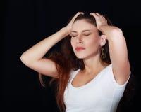 Suffering from headache Stock Photo