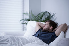 Suffering from insomnia Royalty Free Stock Photography