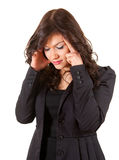 Suffering from pain - businesswoman with headache Royalty Free Stock Photography