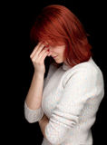 Suffering from  pain, headache Stock Images