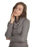 Suffering from pain - toothache Stock Photos