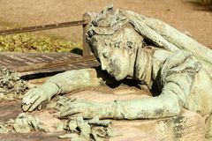 Suffering woman sculpture at Monumental Cemetery, Milan Royalty Free Stock Images