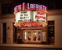 Suffern, NY/Jednoczył Dec 15, 2018: Lafayette Theatre zdjęcia stock