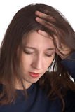 Suffers from headaches Stock Photos