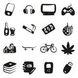 Suffisance d'icônes d'adolescent à main levée Image stock