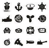 Suffisance d'icônes de marine à main levée Image stock