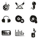 Suffisance d'icônes de disco ou de club à main levée Images stock