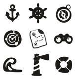 Suffisance nautique d'icônes à main levée Photographie stock libre de droits