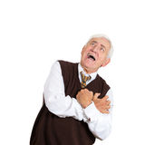 Suffocated old man Stock Photography