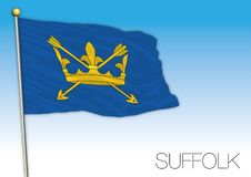Suffolk flag, United Kingdom, county of UK Royalty Free Stock Photography