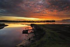Suffolk de los pantanos de Blythburgh Fotos de archivo libres de regalías