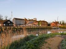 Suffolk Quay, Snape słodownictwa - zdjęcia royalty free