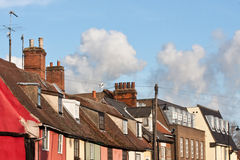 Suffolk Rooftope. Row of old and modern rooftops in Suffolk, UK Royalty Free Stock Image
