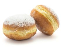 Fresh traditional doughnut isolated royalty free stock photos