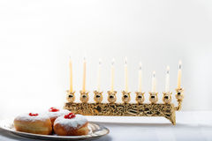 Sufganiyot for Hanukkah Stock Photos