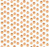 Sufganiyot seamless pattern. Jewish donut seamless texture. Royalty Free Stock Image