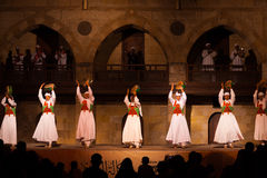 Sufi Dancer Row Tamborines Cairo Royalty Free Stock Photo