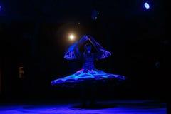 Sufi dancer spins Stock Photo
