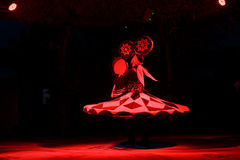 Sufi dancer spins Royalty Free Stock Photos