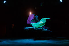 Sufi dancer spins Royalty Free Stock Image