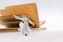 Sufi Dervish on a notebook Royalty Free Stock Photo