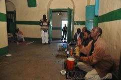 In the Sufi mosque in Hargeisa. Stock Photos