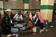 In the Sufi mosque in Hargeisa. Stock Images