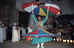 Sufi whirling dervish, Cairo, Egypt Royalty Free Stock Photo