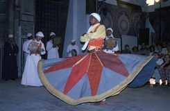 Sufi whirling dervish, Cairo, Egypt Royalty Free Stock Photography