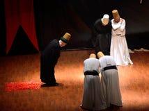 Sufi whirling dervish (Semazen) dances Stock Images