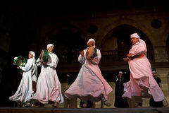 SUFI WHIRLING DERVISHES, CAIRO, EGYPT Royalty Free Stock Images