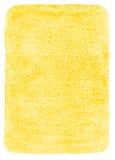Suficiência amarela da aquarela com cantos arredondados Fotografia de Stock Royalty Free