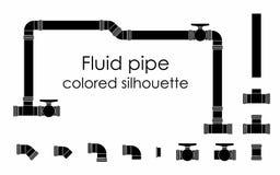 Suficiência fluida do preto da tubulação ilustração do vetor