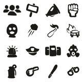 Suficiência a mão livre dos ícones da demonstração ou do protesto ilustração do vetor
