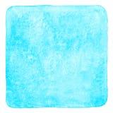 Suficiência quadrada da aquarela dos azul-céu com cantos arredondados Imagens de Stock