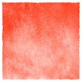 Suficiência vermelha do quadrado da aquarela da morango com borda áspera Imagem de Stock Royalty Free