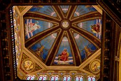 Sufit kościół katolicki zdjęcia stock