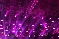 Sufit teatr scena podczas koncerta zdjęcie stock