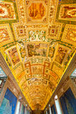 Sufit w Geograficznej galerii Watykańscy muzea Obrazy Royalty Free