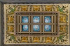Sufit wśrodku biblioteki kongresu Obrazy Stock