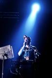 Sufjan史蒂文斯(艺术家)在Bime节日的实况音乐展示 免版税图库摄影