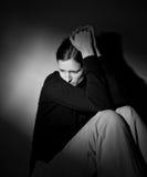 Sufrimiento de la mujer joven Fotografía de archivo