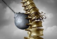 Sufrimiento del dolor de la espina dorsal stock de ilustración